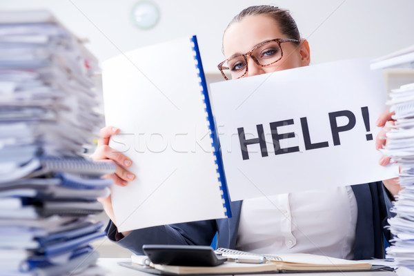 üzletasszony védőbeszéd segítség iroda munka asztal Stock fotó © Elnur