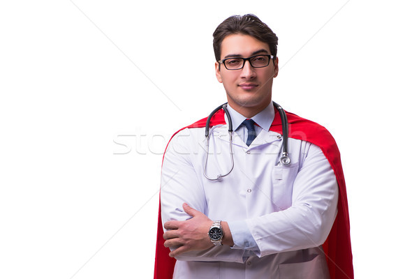 Super hero doctor isolated on white Stock photo © Elnur