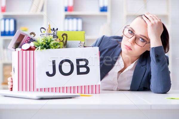 Businesswoman resigning from her job Stock photo © Elnur