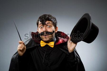 Funny clown teczki biały twarz człowiek Zdjęcia stock © Elnur