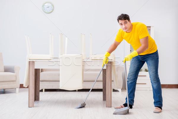 молодым человеком работа по дому домой человека счастливым рабочих Сток-фото © Elnur