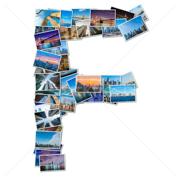 English alphabet letter made of New York photos Stock photo © Elnur