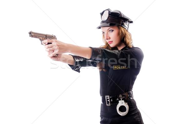 Femenino policía aislado blanco moda cuerpo Foto stock © Elnur