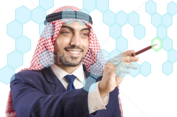 Emiraty człowiek faktyczny przyciski działalności Zdjęcia stock © Elnur