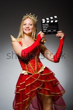 Femme gagner beauté concours oeil visage Photo stock © Elnur