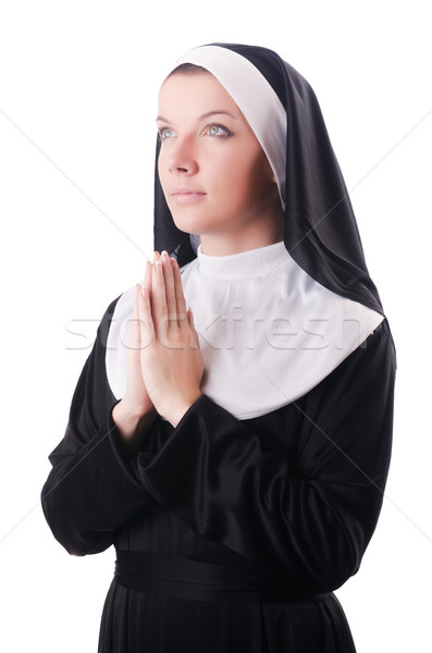 Young nun in religious concept Stock photo © Elnur
