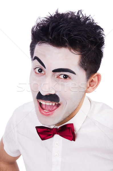 Personification of Charlie Chaplin on white Stock photo © Elnur