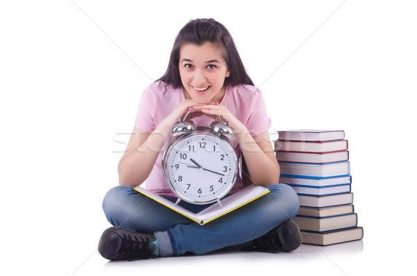 Estudante reunir-se prazos livro livros escolas Foto stock © Elnur