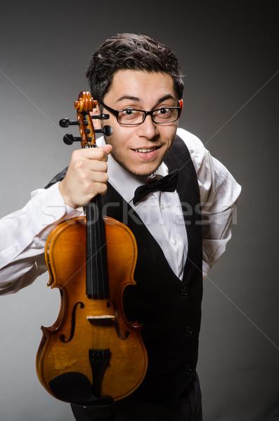 смешные скрипки игрок скрипка человека звук Сток-фото © Elnur