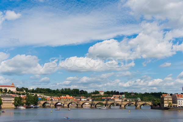 View of Vltava river in Prague Stock photo © Elnur