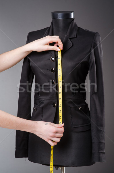 Kadın terzi çalışma yeni elbise moda Stok fotoğraf © Elnur