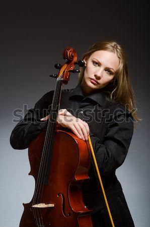 Scary potwora gry halloween kobieta muzyki Zdjęcia stock © Elnur