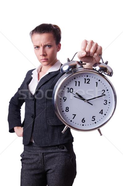 Mujer de negocios reloj que falta plazos mujer trabajo Foto stock © Elnur