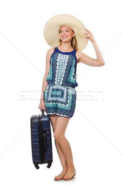 Vrouw zomervakantie meisje luchthaven leuk Stockfoto © Elnur