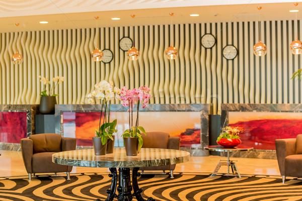 отель лобби современных дизайна дома свет Сток-фото © Elnur