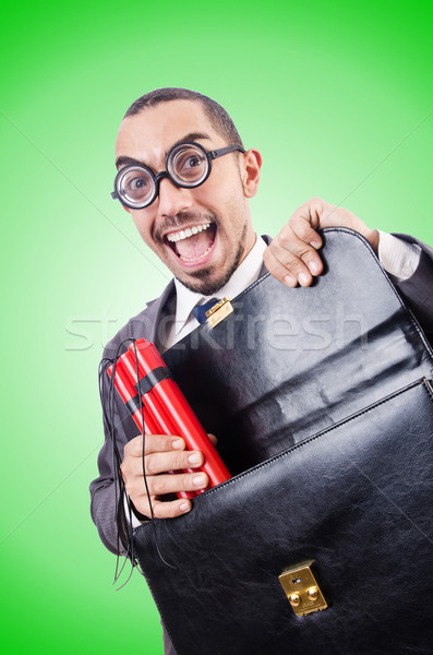 Biznesmen dynamit gradient działalności tle czarny Zdjęcia stock © Elnur