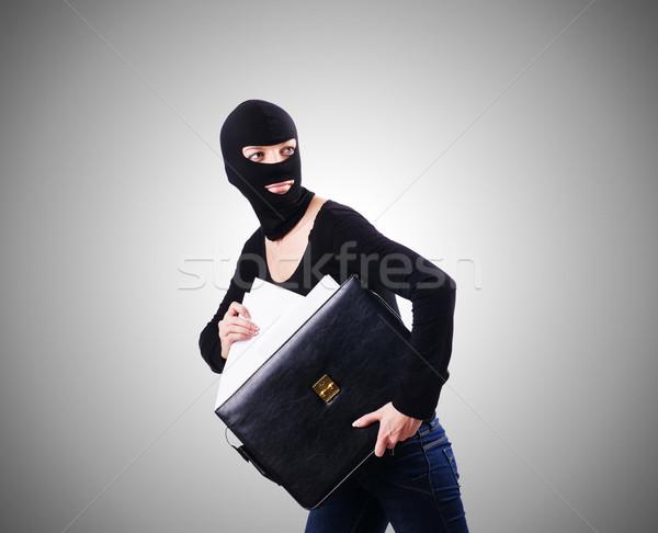 промышленных шпионаж человек бизнесмен костюм весело Сток-фото © Elnur