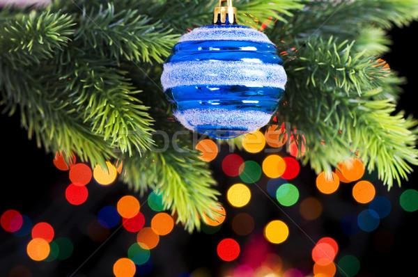 Stock photo: Christmas decoration on the fir tree
