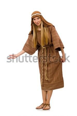 Mujer medieval árabes ropa blanco Foto stock © Elnur