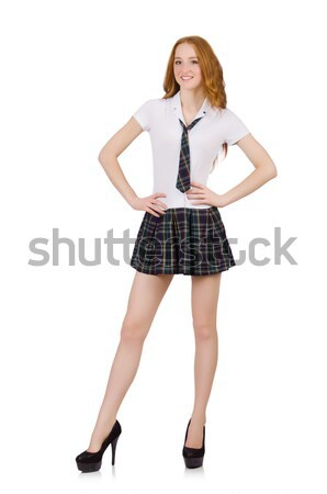 Young student female isolated on white Stock photo © Elnur