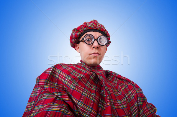 Funny scotsman isolated on the white Stock photo © Elnur