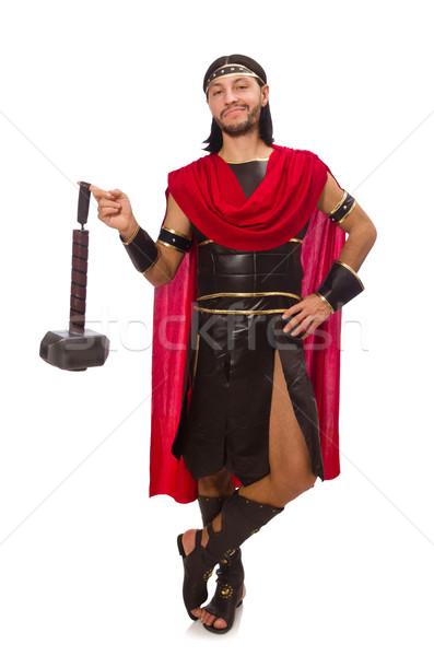 Gladiator hamer geïsoleerd witte man achtergrond Stockfoto © Elnur