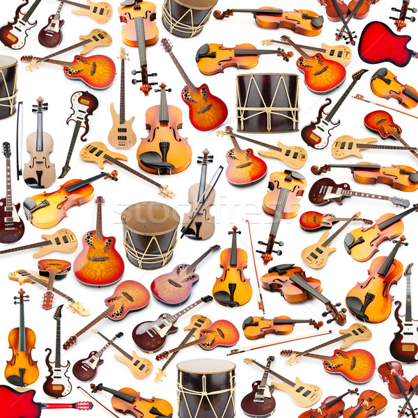 Background made of many musical instruments Stock photo © Elnur