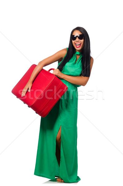 Kadın yaz tatili beyaz iş kız mutlu Stok fotoğraf © Elnur