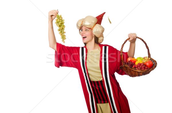 Kobieta czerwony odzież odizolowany biały dziewczyna Zdjęcia stock © Elnur
