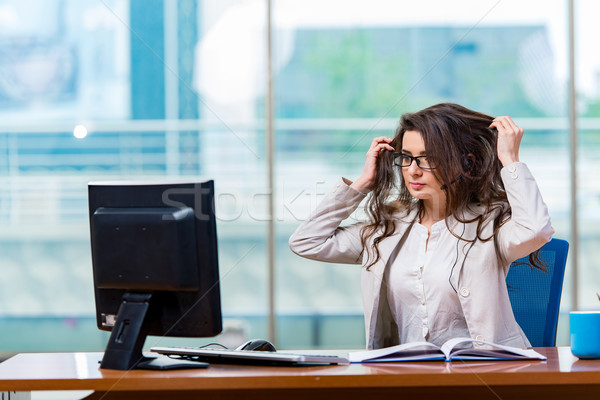 Call Center Betreiber arbeiten Büro Business Arbeit Stock foto © Elnur