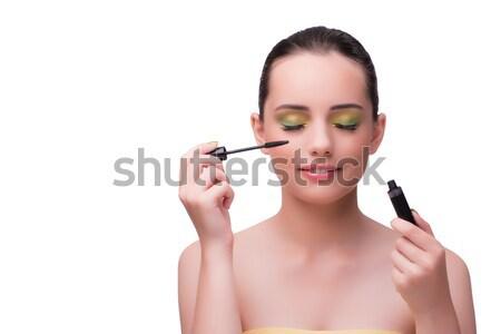 Gyönyörű nő smink kozmetika szépség ajkak bőr Stock fotó © Elnur