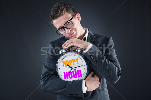 Businessman in happy hour concept Stock photo © Elnur