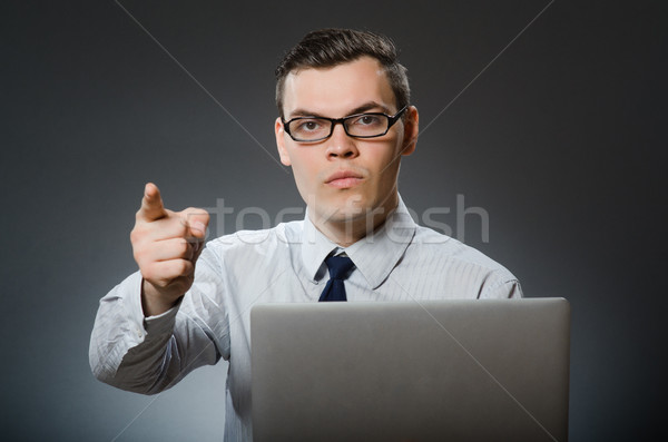 Man with laptop in business concept Stock photo © Elnur