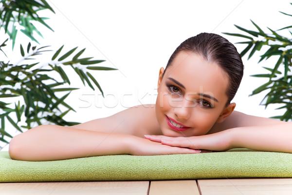The young woman enjoying spa treatment Stock photo © Elnur