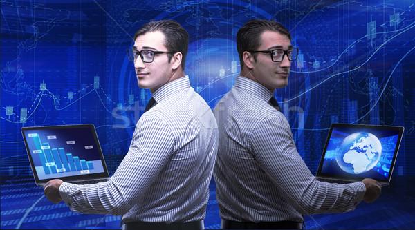 Biznesmen giełdzie handlowy ceny Internetu człowiek Zdjęcia stock © Elnur