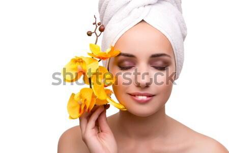 орхидеи цветок изолированный белый женщину Сток-фото © Elnur