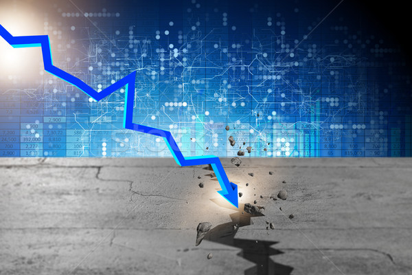 Chart showing financial crisis - 3d rendering Stock photo © Elnur