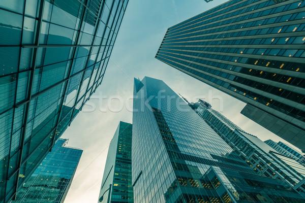 Nueva York rascacielos calle nivel oficina ciudad Foto stock © Elnur