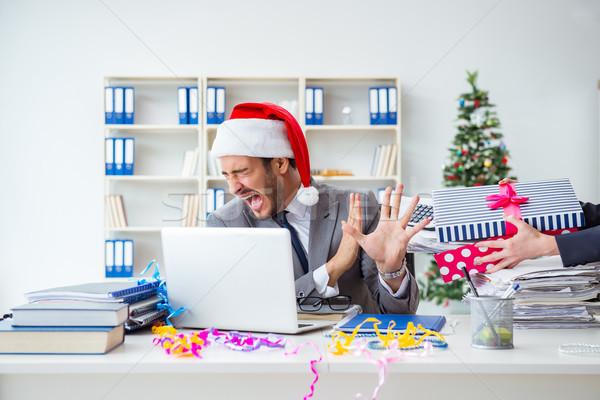 молодые бизнесмен Рождества служба вечеринка Сток-фото © Elnur