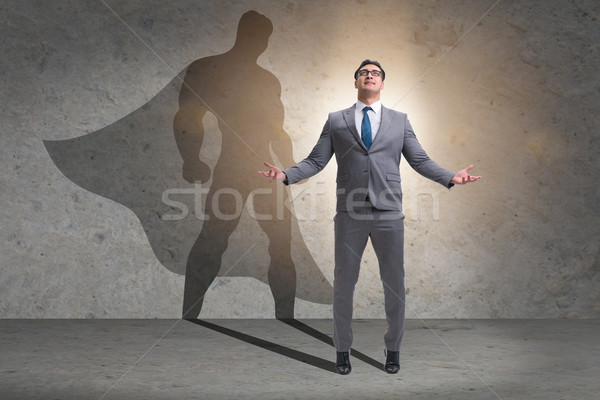 Businessman with aspiration of becoming superhero Stock photo © Elnur