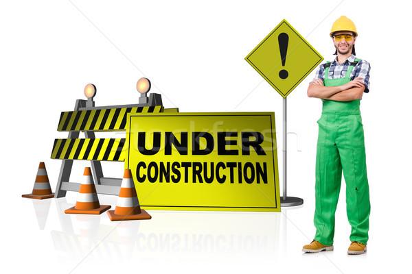 építkezés weboldal internet munka ipar szolgáltatás Stock fotó © Elnur