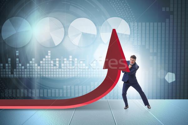 Biznesmen gospodarki wykres wykres działalności ceny Zdjęcia stock © Elnur