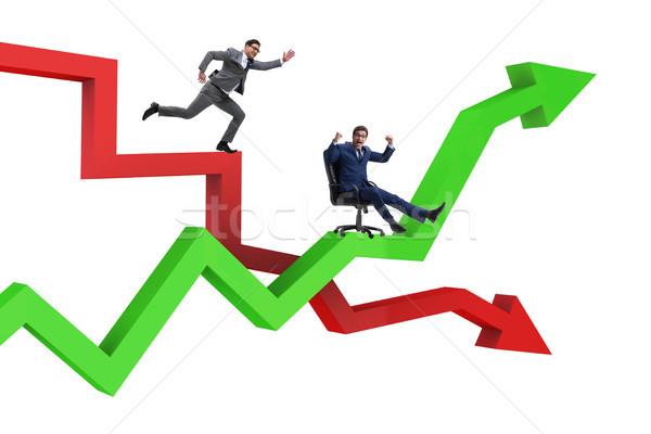 Empresario crisis negocios hombre feliz Foto stock © Elnur