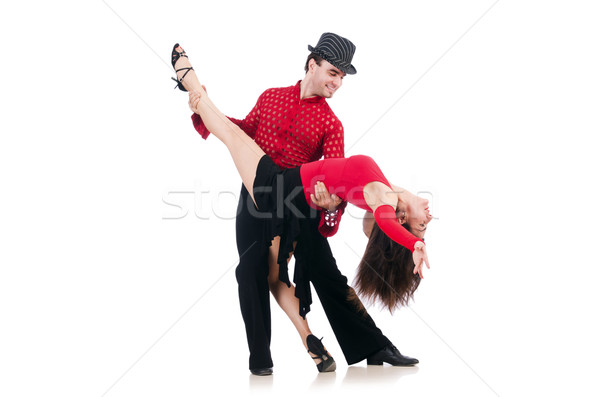 пару танцоры изолированный белый женщину музыку Сток-фото © Elnur