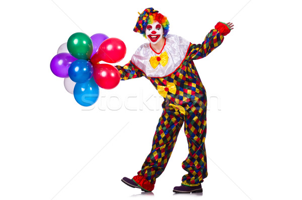 Funny clown isolated on the white Stock photo © Elnur