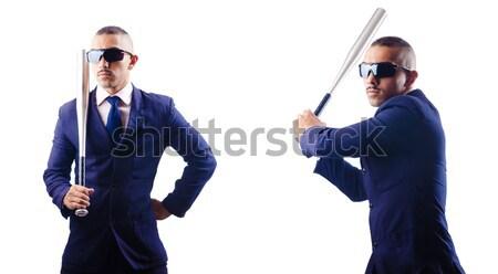 Gangster geweren geïsoleerd witte business vrouw Stockfoto © Elnur