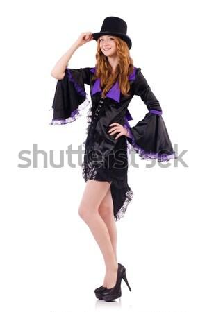 Genç kadın yalıtılmış beyaz kız seksi model Stok fotoğraf © Elnur