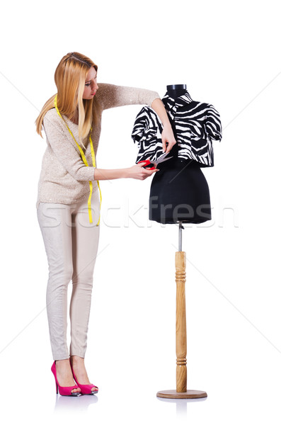 женщину портной изолированный белый моде работу Сток-фото © Elnur