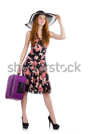 Redhead woman toreador isolated on white Stock photo © Elnur