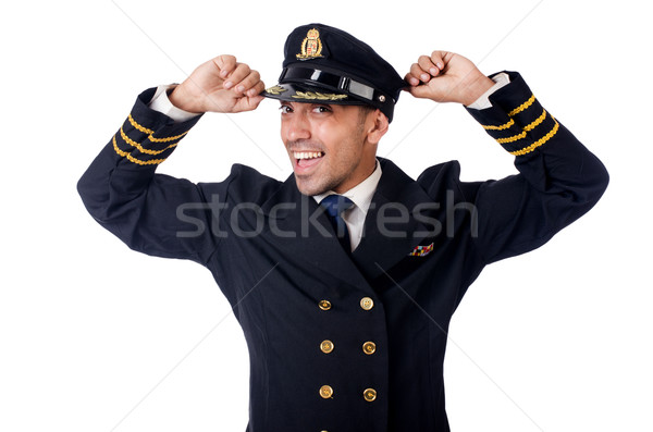 Young pilot isolated on the white Stock photo © Elnur